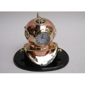 Dive helmet replica with clock