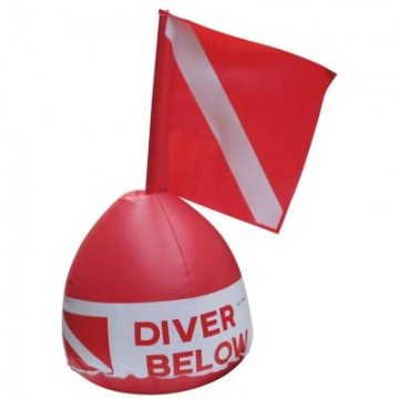 Tecna diver's surface marker buoy with flag